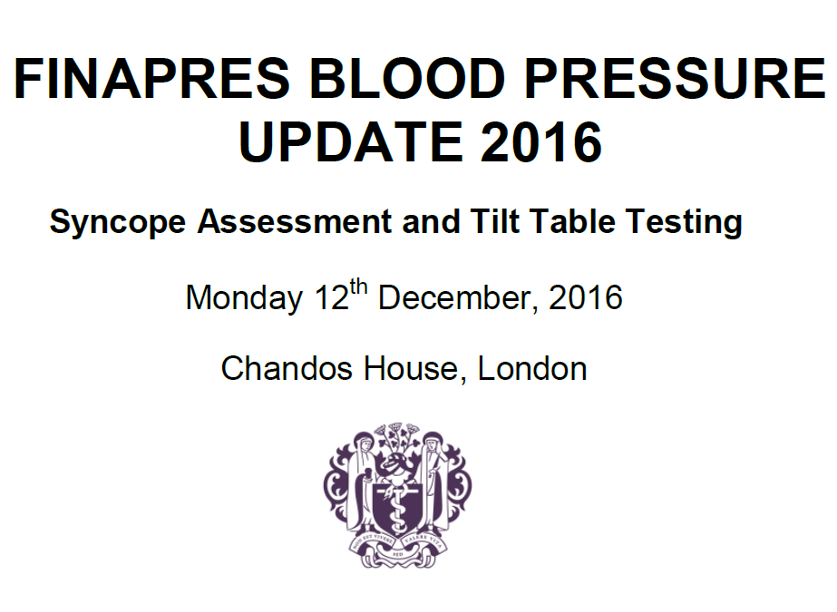 Finapres Blood Pressure Update 2016